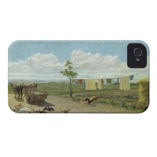 The Farmyard (oil on canvas) Case-Mate iPhone 4 Case