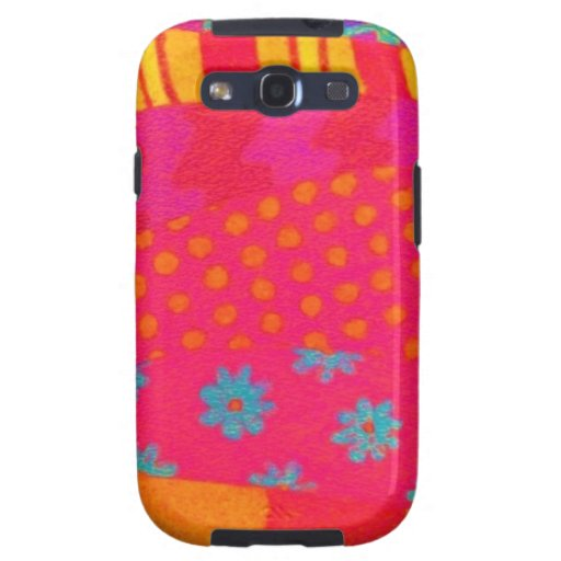 THE FASHIONISTA - Bright Vibrant Abstract Waves Samsung Galaxy S3 Covers