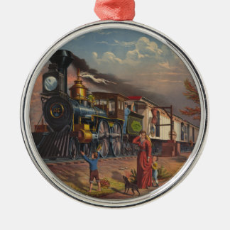 The Fast Mail Postal Service Train From 1875 Christmas Ornament