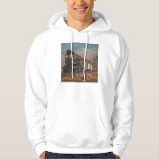 The Fast Mail Postal Service Train From 1875 Hoodie