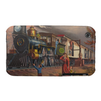 The Fast Mail Postal Service Train From 1875 iPhone 3 Cases