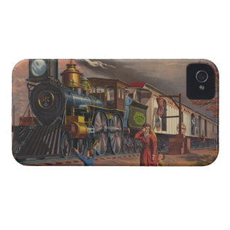 The Fast Mail Postal Service Train From 1875 iPhone 4 Cover