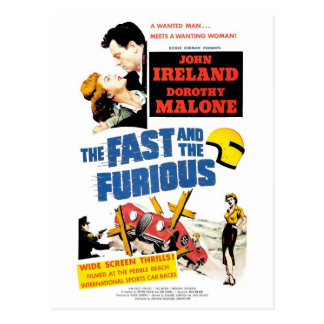 The Fast The Furious 1955 Postcard