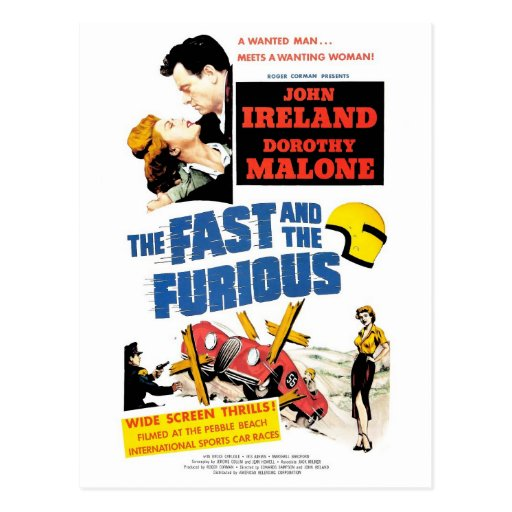 The Fast & The Furious (1955) Postcard