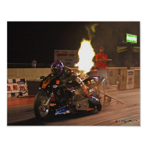 """""""The Fastest Top Fuel Drag Bike On The Planet"""" Poster"""