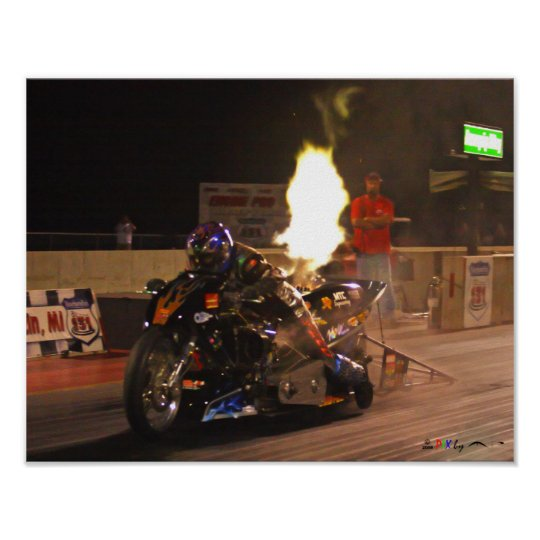 """The Fastest Top Fuel Drag Bike On The Planet"" Poster"