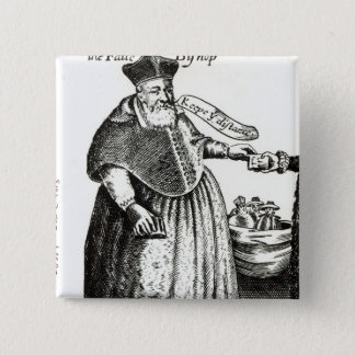 The Fat Bishop 15 Cm Square Badge
