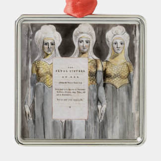 The Fatal Sisters, design 67 from 'The Poems of Th Silver-Colored Square Decoration
