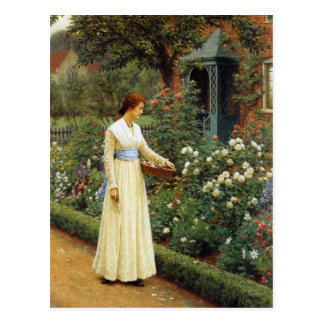 The Fate of the Rose Oil Painting Postcard