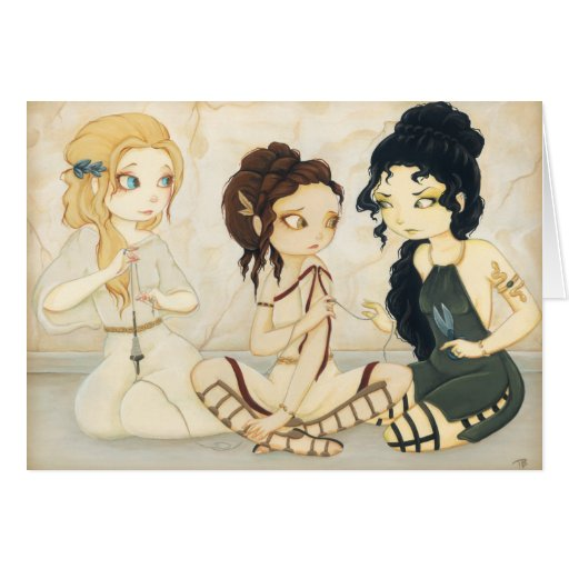 The Fates- Greek mythology card