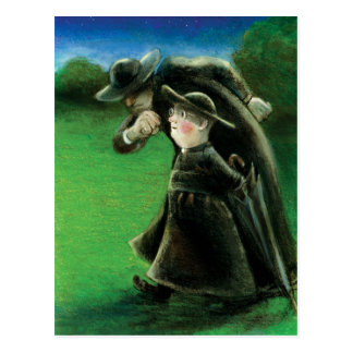 The Father Brown Reader Illustration Postcard