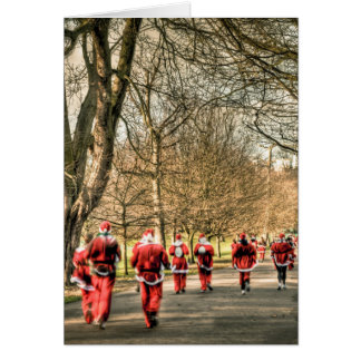 The Father Christmas 10km run in Greenwich, London Greeting Card