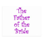 The Father of the Bride Postcard