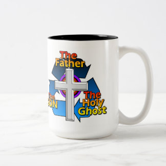 The Father,The Son, And The Holy Ghost Two-Tone Coffee Mug