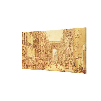 The Faubourg and the Porte Saint-Denis, 1801 Canvas Print