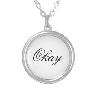 """The Fault in Our Stars """"Okay"""" Necklace. Silver Plated Necklace"""