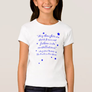 The fault in our stars quote t shirt