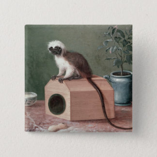 The Favourite Monkey of Carl Linnaeus 15 Cm Square Badge