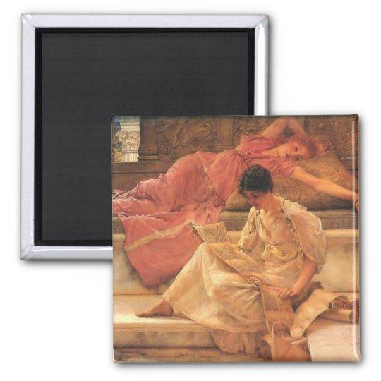 The Favourite Poet Lawrence Alma-Tadema 1888 Square Magnet