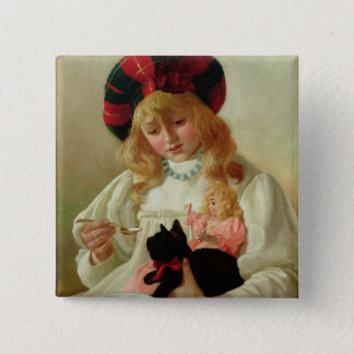 The Favourites, 1895 (oil on canvas) 15 Cm Square Badge