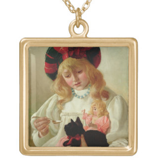 The Favourites, 1895 (oil on canvas) Gold Plated Necklace