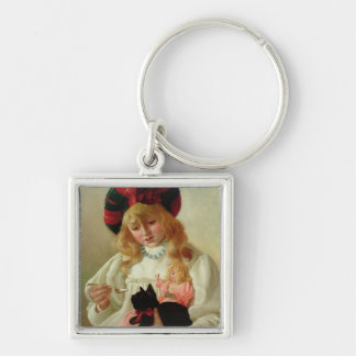 The Favourites, 1895 (oil on canvas) Silver-Colored Square Key Ring