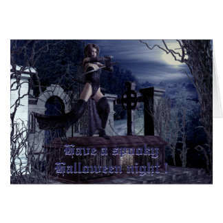The fearless vampire hunters greeting card