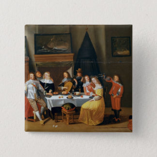 The Feast 15 Cm Square Badge