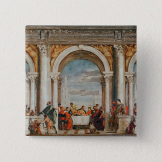 The Feast in the House of Levi 15 Cm Square Badge