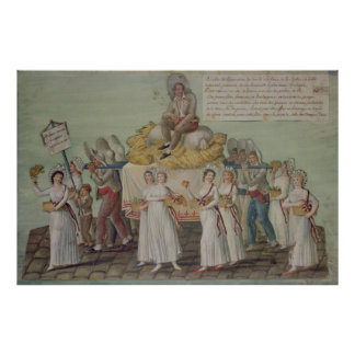 The Feast of Agriculture in 1796 at Paris Poster