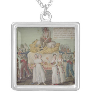 The Feast of Agriculture in 1796 at Paris Silver Plated Necklace