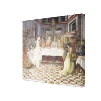 The Feast of Herod (fresco) (see also 60432) Canvas Print