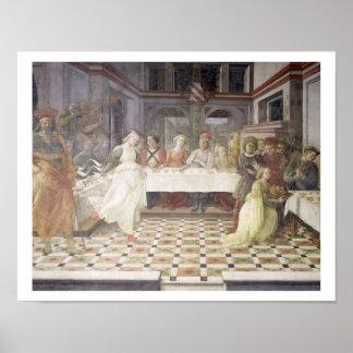 The Feast of Herod (fresco) (see also 60432) Print
