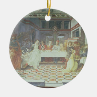 The Feast of Herod, from the cycle of The Lives of Round Ceramic Decoration