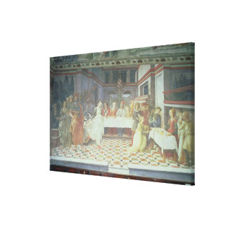 The Feast of Herod, from the cycle of The Lives of Stretched Canvas Prints