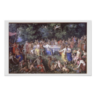 The Feast of the Gods oil on canvas Posters