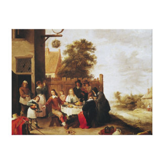 The Feast of the Prodigal Son, 1644 Stretched Canvas Prints