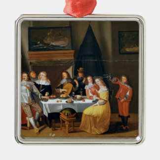 The Feast Silver-Colored Square Decoration