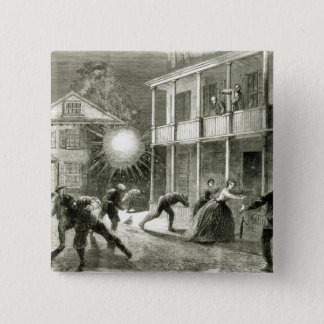 The Federals shelling the City of Charleston 15 Cm Square Badge