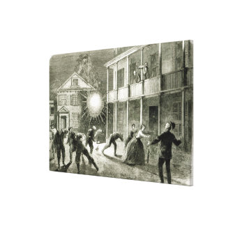 The Federals shelling the City of Charleston Canvas Print