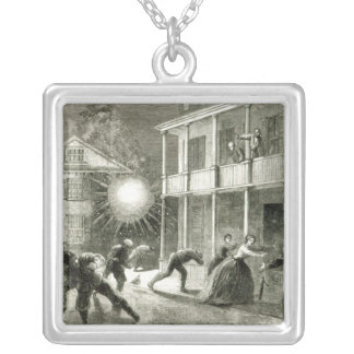 The Federals shelling the City of Charleston Silver Plated Necklace