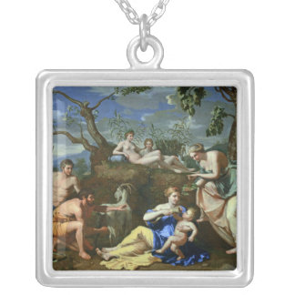 The Feeding of the Child Jupiter, c.1640 Silver Plated Necklace