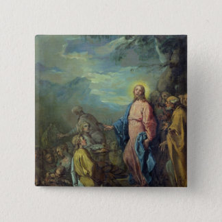 The Feeding of the Five Thousand, before 1733 15 Cm Square Badge