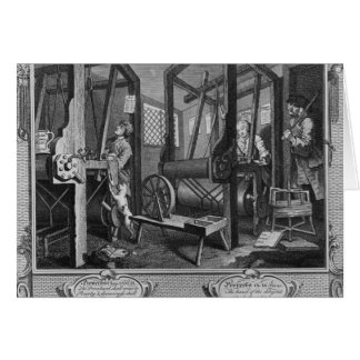 The Fellow 'Prentices at their Looms Greeting Card