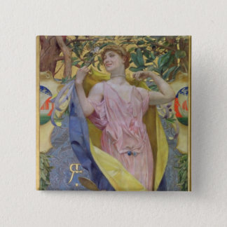 The Feminine Toilet (panel) 15 Cm Square Badge