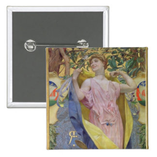 The Feminine Toilet (panel) 15 Cm Square Badge
