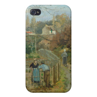 The Fence, 1872 (oil on canvas) Case For iPhone 4