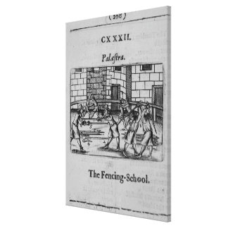 The Fencing School Canvas Print