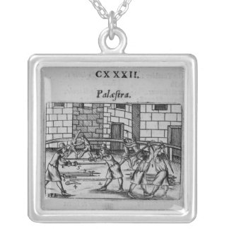 The Fencing School Silver Plated Necklace