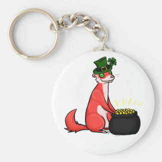 The Ferret and the Pot 'o Gold Keychain